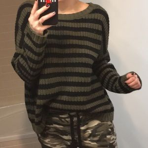Express Striped Cozy Boxy Sweater